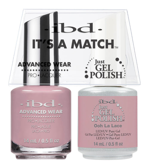 IBD Just Gel Polish, 65478, It's A Match Duo, Oohlalace, 0.5oz KK