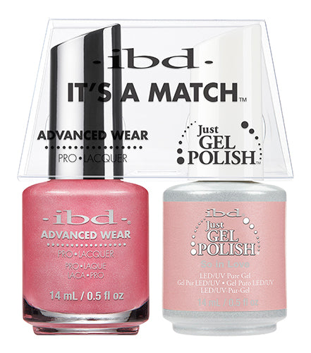 IBD Just Gel Polish, 65479, It's A Match Duo, So In Love, 0.5oz KK