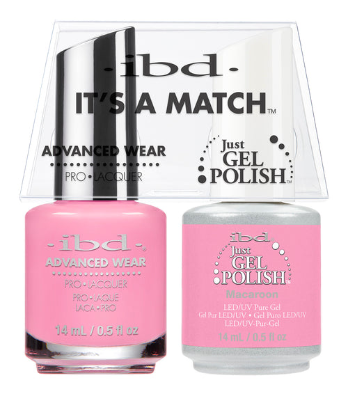 IBD Just Gel Polish, 65481, It's A Match Duo, Macaroon, 0.5oz KK