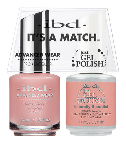 IBD Just Gel Polish, 65482, It's A Match Duo, Natural Beautyful, 0.5oz KK