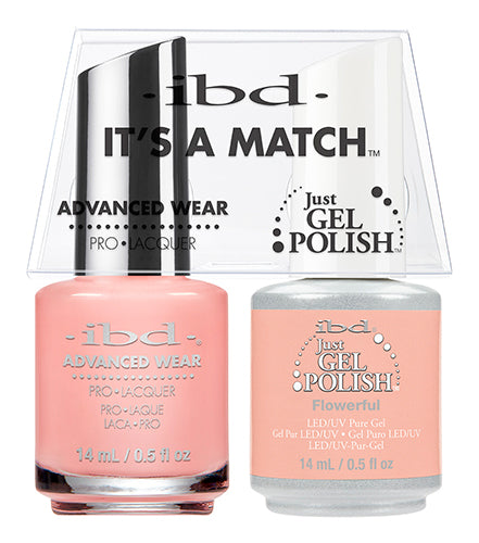 IBD Just Gel Polish, 65484, It's A Match Duo, Flowerful, 0.5oz KK