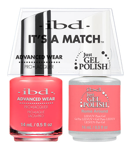 IBD Just Gel Polish, 65485, It's A Match Duo, Rome Around, 0.5oz KK