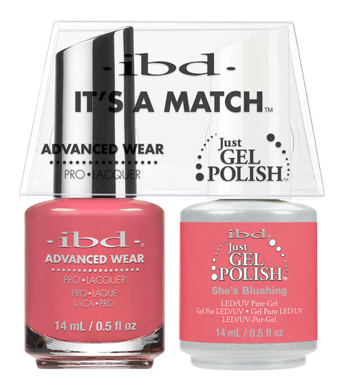 IBD Just Gel Polish, 65486, It's A Match Duo, She's Blushing, 0.5oz KK