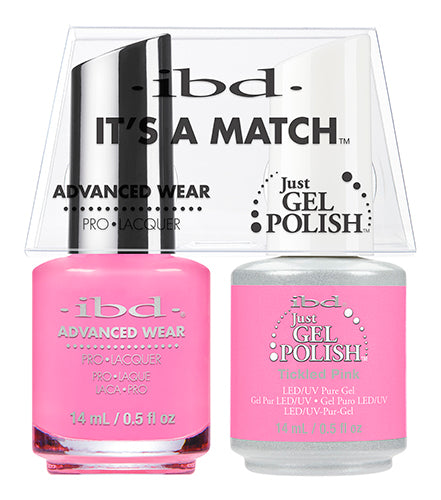 IBD Just Gel Polish, 65488, It's A Match Duo, Tickled Pink, 0.5oz KK