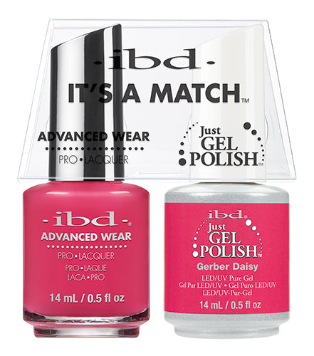 IBD Just Gel Polish, 65489, It's A Match Duo, Gerber Daisy, 0.5oz KK