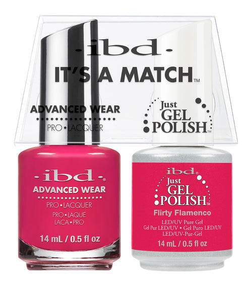 IBD Just Gel Polish, 65490, It's A Match Duo, Flirty Flamenco, 0.5oz KK