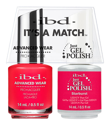 IBD Just Gel Polish, 65492, It's A Match Duo, Starburst, 0.5oz KK