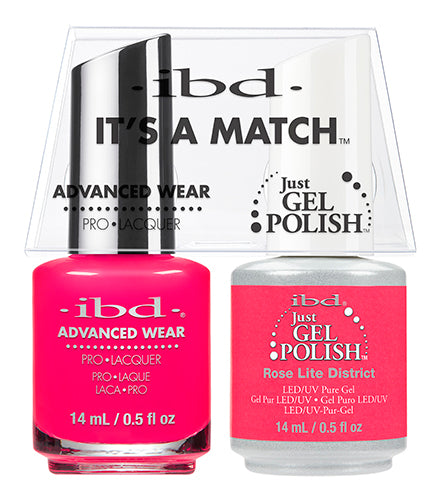 IBD Just Gel Polish, 65493, It's A Match Duo, Rose Lite District, 0.5oz KK