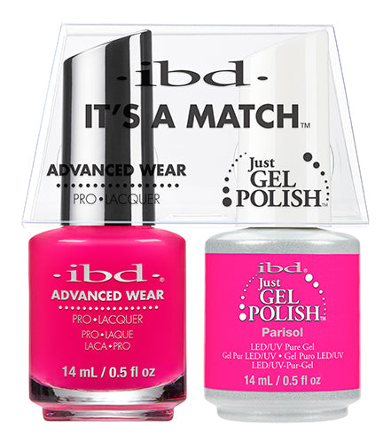 IBD Just Gel Polish, 65494, It's A Match Duo, Parisol, 0.5oz KK