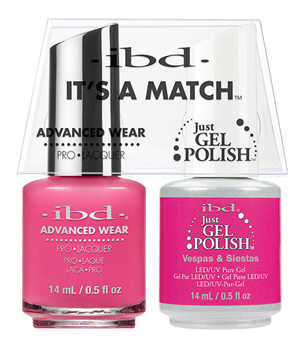 IBD Just Gel Polish, 65495, It's A Match Duo, Vespas Siestas, 0.5oz KK