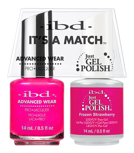 IBD Just Gel Polish, 65496. It's A Match Duo, Frozen Strawberry, 0.5oz KK