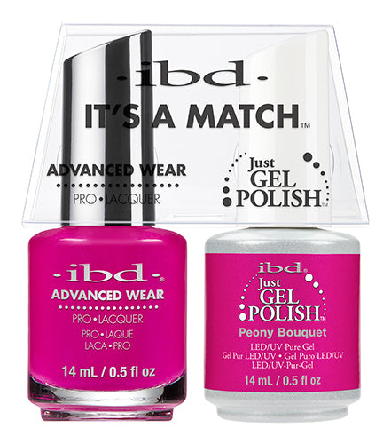 IBD Just Gel Polish, 65497, It's A Match Duo, Peony Bouquet, 0.5oz KK