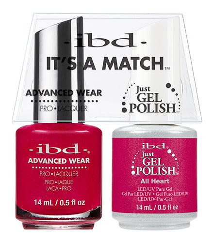 IBD Just Gel Polish, 65499, It's A Match Duo, All Heart, 0.5oz KK