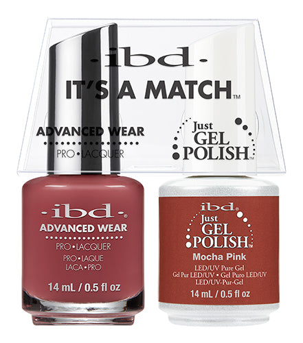 IBD Just Gel Polish, 65502, It's A Match Duo, Mocha Pink, 0.5oz KK