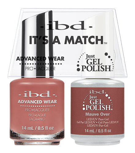 IBD Just Gel Polish, 65503, It's A Match Duo, Mauve Over, 0.5oz KK