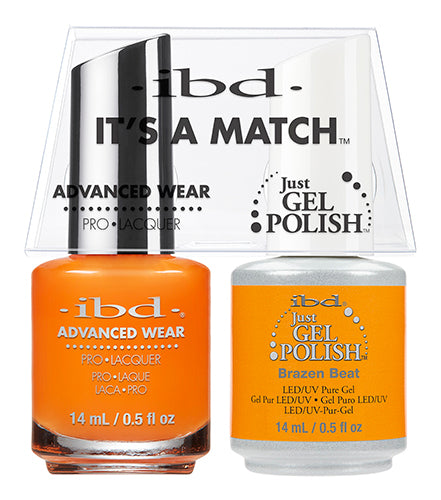 IBD Just Gel Polish, 65504, It's A Match Duo, Brazen Beat, 0.5oz KK