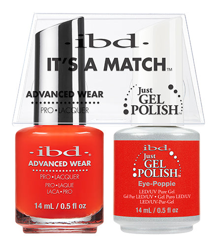IBD Just Gel Polish, 65506, It's A Match Duo, Eye Poppie, 0.5oz KK