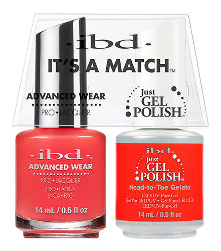 IBD Just Gel Polish, 65508, It's A Match Duo, Head To Toe Gelato, 0.5oz KK