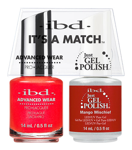 IBD Just Gel Polish, 65510, It's A Match Duo, Mango Mischief, 0.5oz KK
