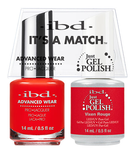 IBD Just Gel Polish, 65511, It's A Match Duo, Vixen Rouge, 0.5oz KK