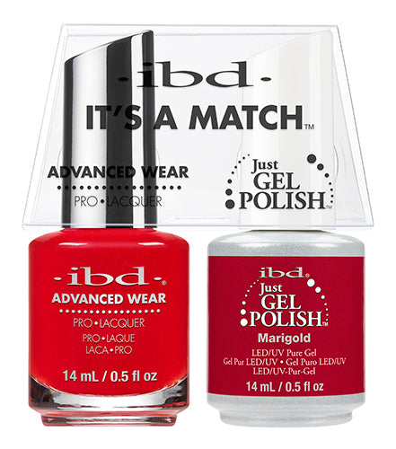 IBD Just Gel Polish, 65513, It's A Match Duo, MariGold, 0.5oz KK