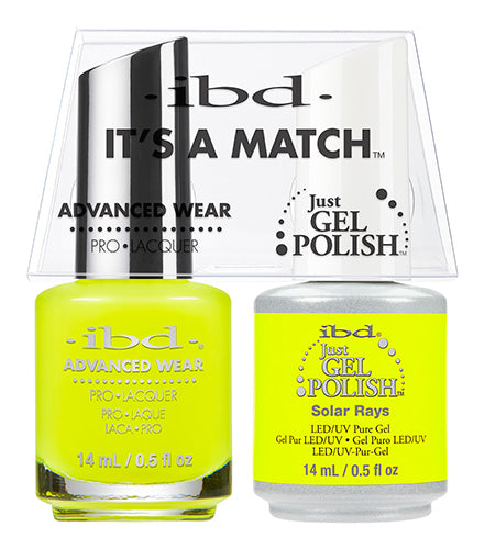 IBD Just Gel Polish, 65559, It's A Match Duo, Solar Rays, 0.5oz KK