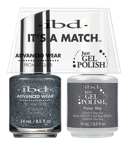 IBD Just Gel Polish, 65564, It's A Match Duo, Polar Sky, 0.5oz KK