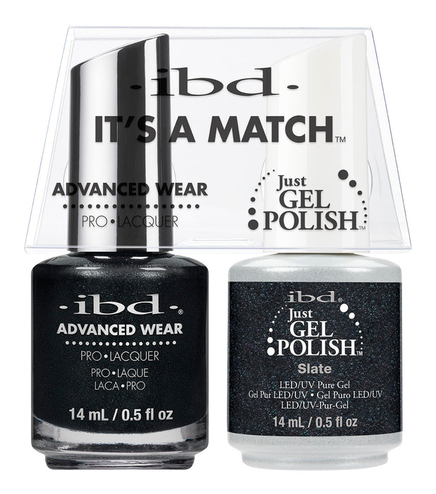 IBD Just Gel Polish, 65567, It's A Match Duo, Slate, 0.5oz KK