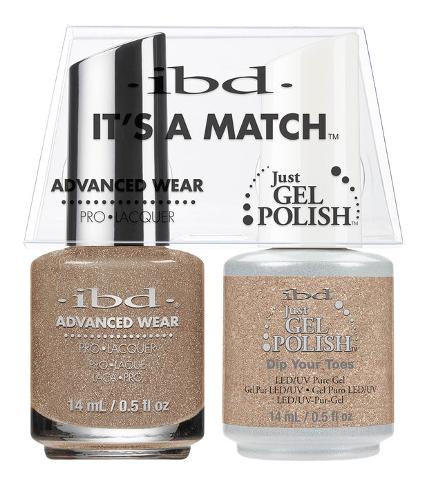 IBD Just Gel Polish, 66650, It's A Match Duo, Dip Your Toes, 0.5oz KK
