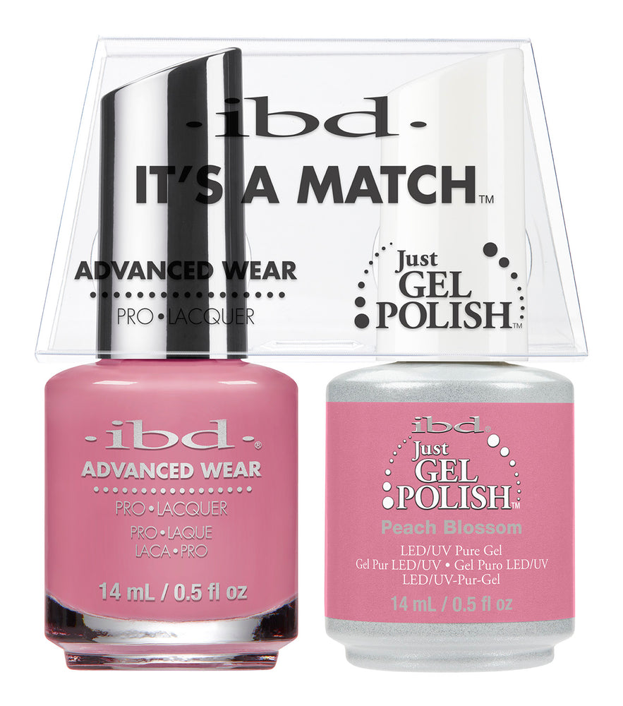 IBD Just Gel Polish, 66655, It's A Match Duo, Peach Blossom, 0.5oz KK