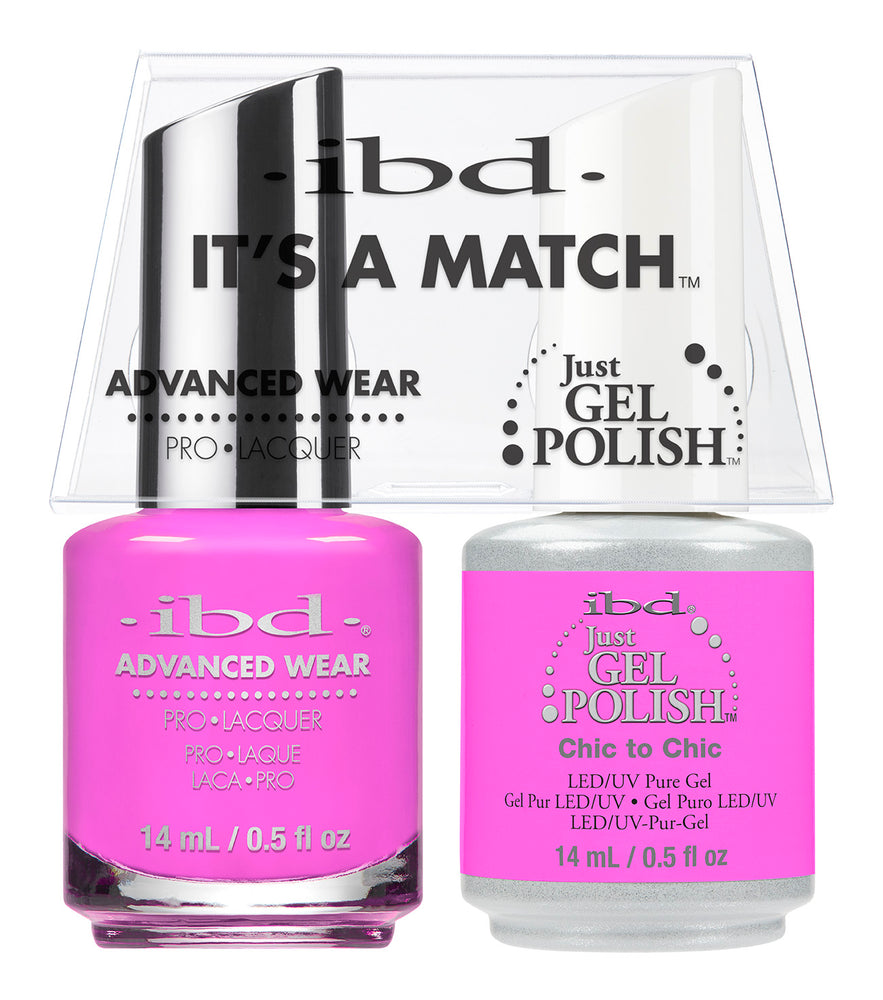 IBD Just Gel Polish, 66656, It's A Match Duo, Chic To Chic, 0.5oz KK