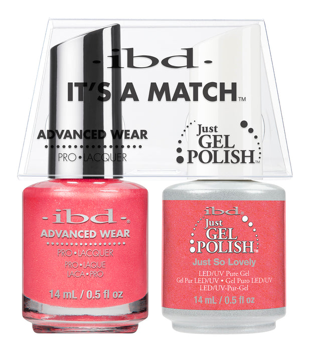 IBD Just Gel Polish, 66661, It's A Match Duo, Just So Lovely, 0.5oz KK