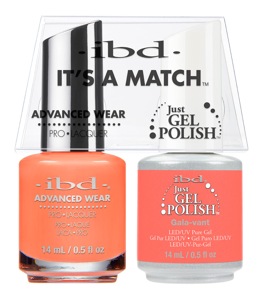 IBD Just Gel Polish, 66663, It's A Match Duo, Gala-Vant, 0.5oz KK