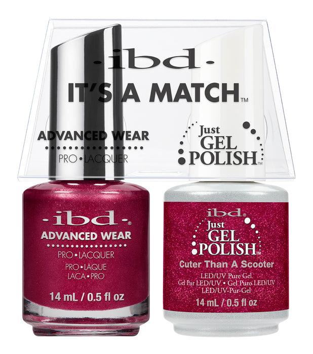 IBD Just Gel Polish, 66669, It's A Match Duo, Cuter Than A Scooter, 0.5oz KK