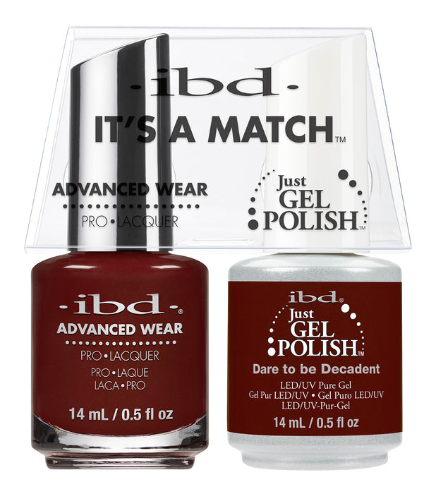 IBD Just Gel Polish, 66671, It's A Match Duo, Dare To Be Decadent, 0.5oz KK