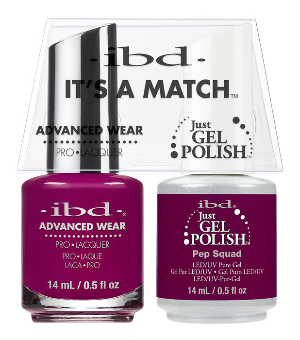 IBD Just Gel Polish, 66673, It's A Match Duo, Pep Squad, 0.5oz KK