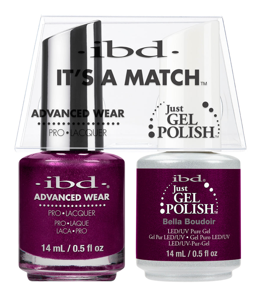 IBD Just Gel Polish, 66674, It's A Match Duo, Bella Boudoir, 0.5oz KK
