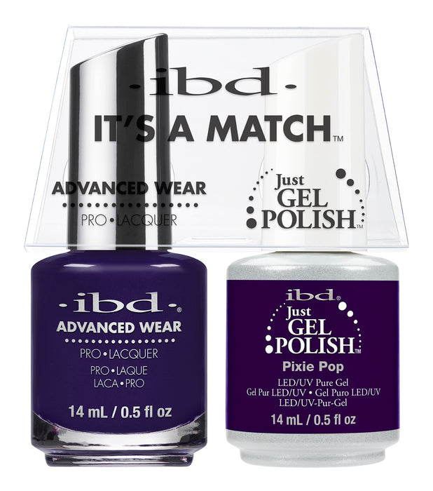 IBD Just Gel Polish, 66678, It's A Match Duo, Pixie Pop, 0.5oz KK