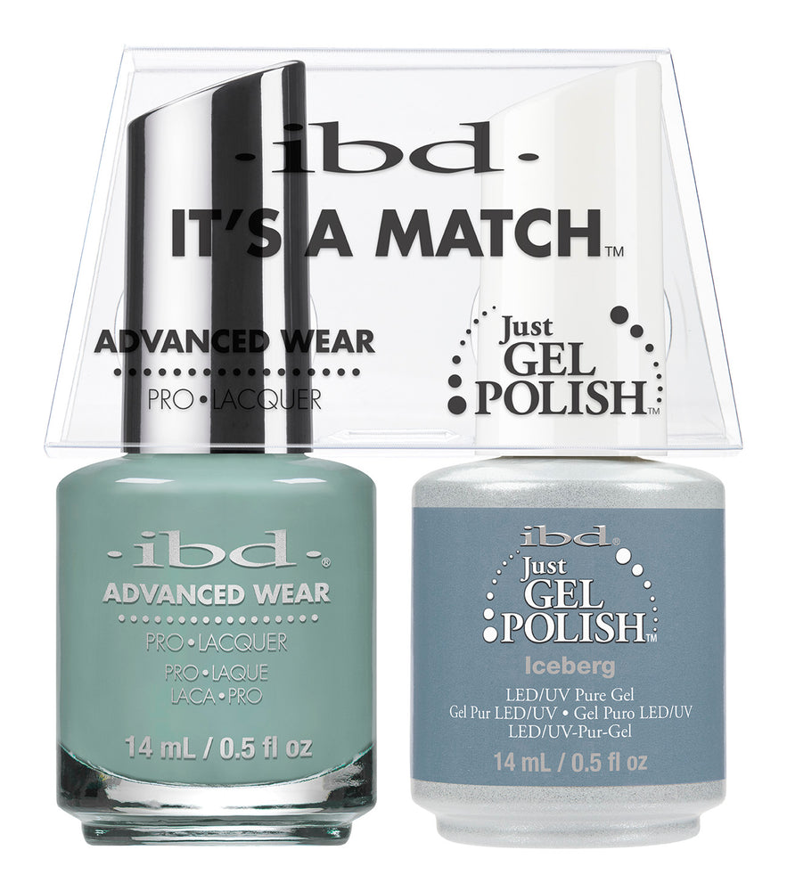 IBD Just Gel Polish, 66680, It's A Match Duo, Iceberg, 0.5oz KK