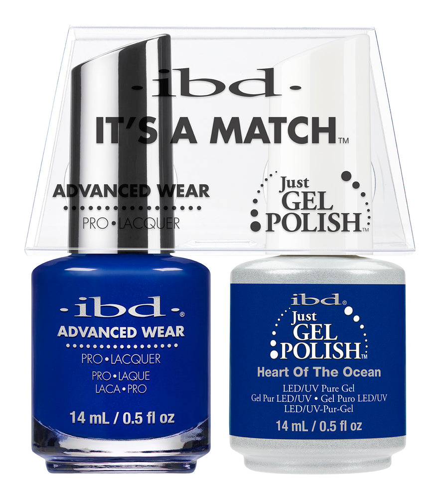 IBD Just Gel Polish, 66684, It's A Match Duo, Heart Of The Ocean, 0.5oz KK