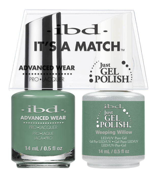IBD Just Gel Polish, 66687, It's A Match Duo, Weeping Willow, 0.5oz KK