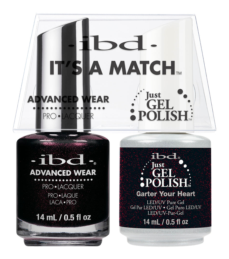 IBD Just Gel Polish, 66689, It's A Match Duo, Garter Your Heart, 0.5oz KK
