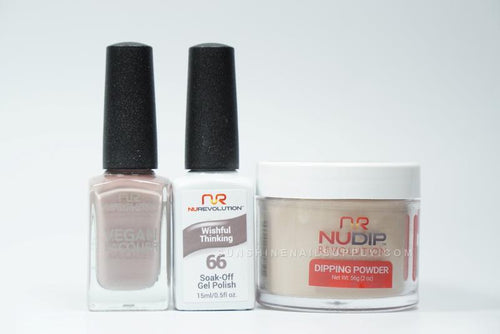 NuRevolution 3in1 Dipping Powder + Gel Polish + Nail Lacquer, 066, Wishful Thinking OK1129