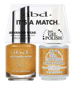 IBD Just Gel Polish, 67005, It's A Match Duo, Playing With Fuego, 0.5oz KK