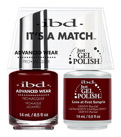 IBD Just Gel Polish, 67007, It's A Match Duo, Love at First Sangria, 0.5oz KKK