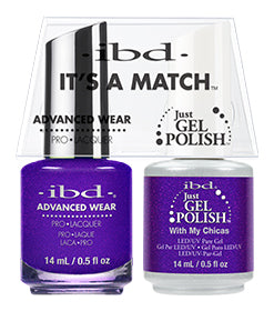 IBD Just Gel Polish, 67009, It's A Match Duo, With My Chicas, 0.5oz KK