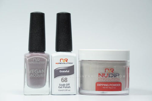 NuRevolution 3in1 Dipping Powder + Gel Polish + Nail Lacquer, 068, Grateful OK1129