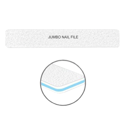 Cre8tion Nail Files JUMBO WHITE Sand, Grit 80/80, 30pks/case, 50pcs/pack, 07014