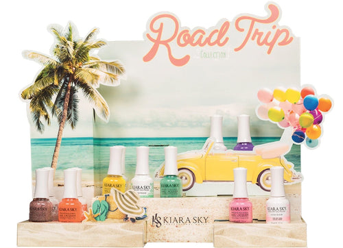 Kiara Sky Gel Polish 1, Road Trip Collection, Full line of 6 colors (from G585 to G590), 0.5oz