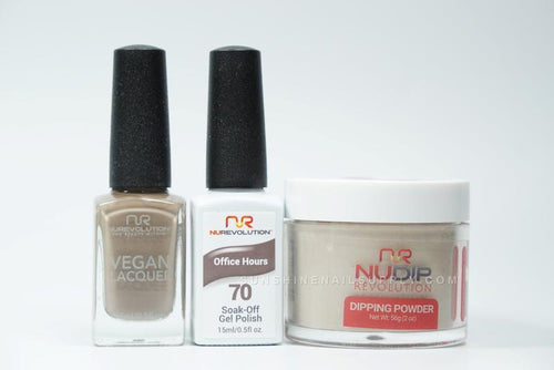 NuRevolution 3in1 Dipping Powder + Gel Polish + Nail Lacquer, 070, Office Hours OK1129